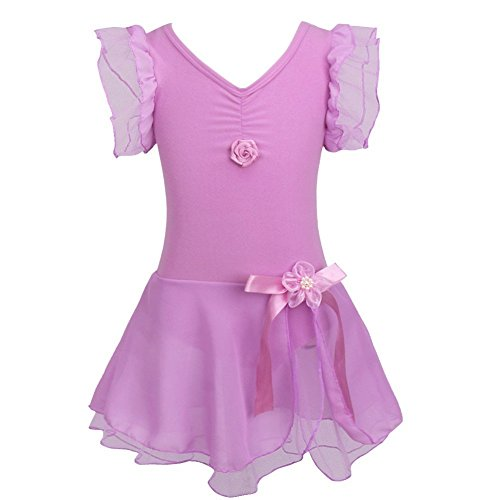 Iiniim – Costume da ballerina, tutù per bambina, Bambino, Purple, 10-12 (Costumi Birthday Party Dress)