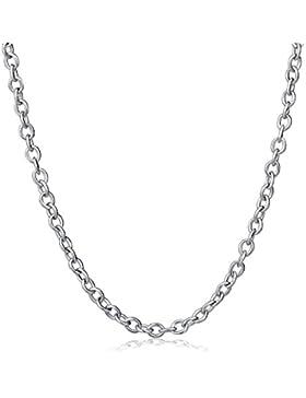 Silberkette für Anhänger ankerkette aus 925 Sterlingsilber in 40-76cm Länge und 1,2mm Breite   Erbskette Silber