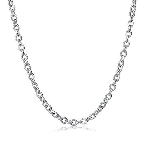 Silberkette für Anhänger aus 925 Sterlingsilber in 40-60cm Länge und 1,2mm Breite | Erbskette Silber (55cm)