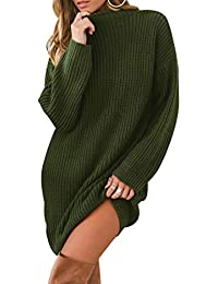 Maglione Vestito Donna Lungo Maglioni Lunghi Pullover Maglieria Golfino  Donna Maglioncino Maglia Trecce Pesanti Larghi Vestiti da9254b888d
