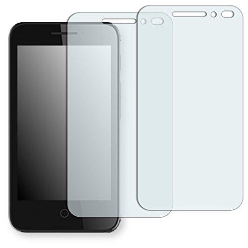 "Alcatel Pixi 4 4 Zoll Displayschutzfolie - 2x Golebo Displayschutz Schutzfolie Folie ""Crystal Clear"" für Alcatel Pixi 4 4 Zoll"