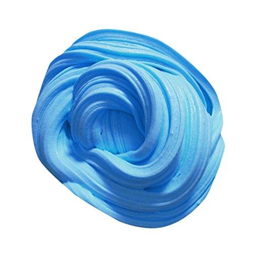 Rawdah Jouets De Soulagement Du Stress Fluffy Floam Slime Scented Stress Relief No Borax Jouet De Boue à Jouet de Bureau (60ml, bleu)