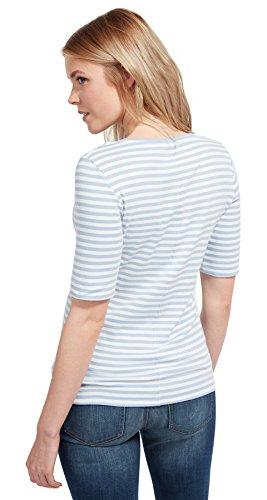 Tom Tailor für Frauen T-Shirt gestreiftes T-Shirt brunnera blue