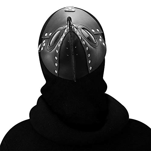 (Retro Schnabel Vogel Steampunk Gothic Maske Halloween Weihnachten Kostüm Requisiten,Black)