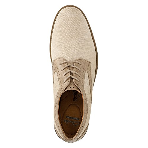 Clarks Garren Plaine Oxford Sand Combination Canvas/Full Grain Leather