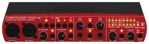 Behringer FIREPOWER FCA610 USB/FW-Audio Interface (Koaxial-mixer)