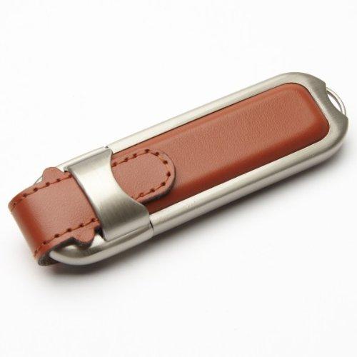 aricona Leder USB Stick mit 16GB Speicherkapazität USB 2.0 Speicherstick, Plug & Play Funktion, sicher, elegant und stabil