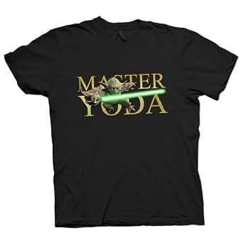 T-Shirt - Meister Yoda Star Wars - Schwarz - Herren - Größe XL