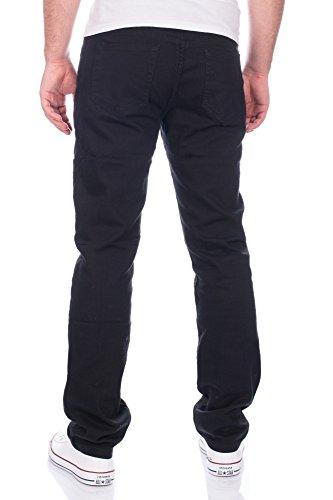 Herren Jeans Hose Straight Fit Versch. Farben ID310 Schwarz