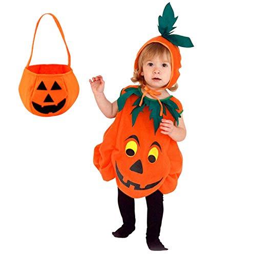 Bobopai Kids Infant Pumpkin Fancy Dress Halloween Costume Lantern Face Outfits with Pumpkin Bag - Damen Boxer Fancy Dress Kostüm