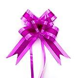 Oblique-Unique® 10 Geschenkschleifen mit Geschenkbändern für Geschenke und Zuckertüten - Farben und Größe wählbar (Pink 20x16cm)