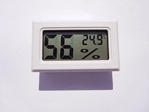 Thermometre Hygrometre BLANC - Digital LCD - Cave à Vin ou Cigare Humidité