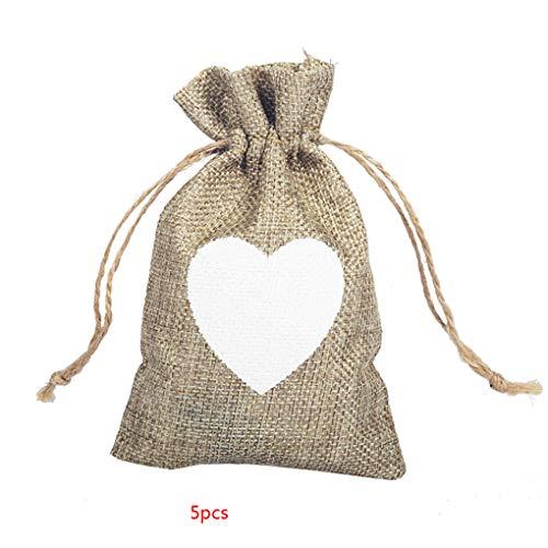 keit Geschenk Jutebeutel Kordelzug Geburtstag Hochzeit Geschenk Jewlery Beutel Partei Bevorzugung Geschenk Taschen ()