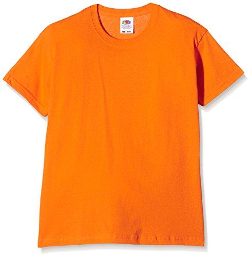 Fruit of the Loom SS132B, Camiseta para Niños, Naranja, 7-8 Años (Talla del Fabricante 128)