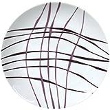 Novastyl 6955105 Lot de 6 Assiettes à Dessert Liane Porcelaine Violet 21 x 18 x 2 cm
