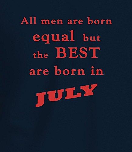 """""""Best Men are Born in July"""" Geburtstagsgeschenk T-Shirt Marineblau Rot"""