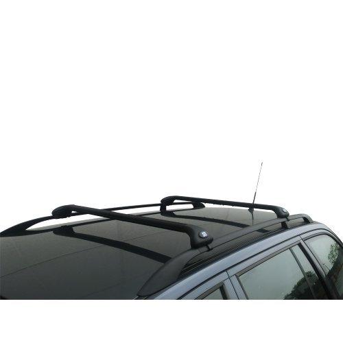 Auto-Dachträger Gepäckträger Viva 2Standard für Peugeot 4007ab 2007bis 2012 schwarz