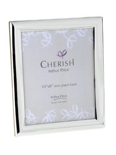 Cherish Arthur Price, Portafoto con cornice placcata in argento 20x25cm, design Oxford