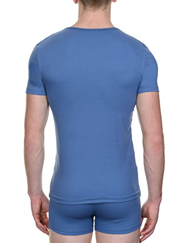 Bruno Banani Herren Unterhemd Shirt Perfect Line Blau (denim 183)