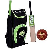 CW T20 - Juego de críquet con pelota de bate + bolsa de almacenamiento para exteriores, tamaño 6, para 12-13 años