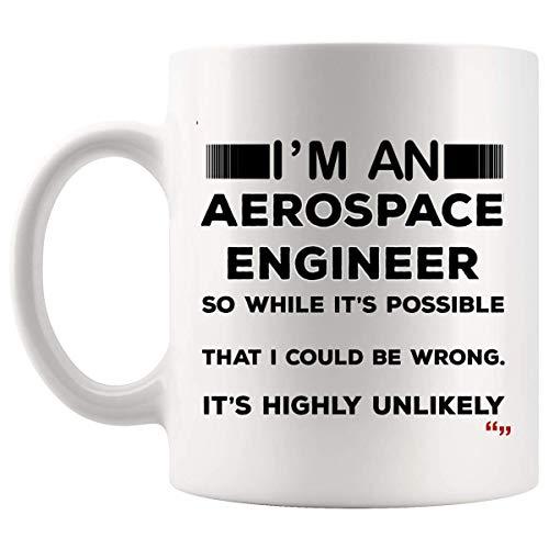 Not Applicable Bromas Ingeniero aeroespacial Taza Taza de café Ingenieros Regalos para Hombres Mujeres - Ingeniería aeronáutica astronáutica Tazas de cumpleaños para Oficina