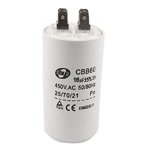 DealMux Waschmaschine unpolare 16uF 450V AC CBB60 Motor Run Kondensator - Motor Run Kondensator