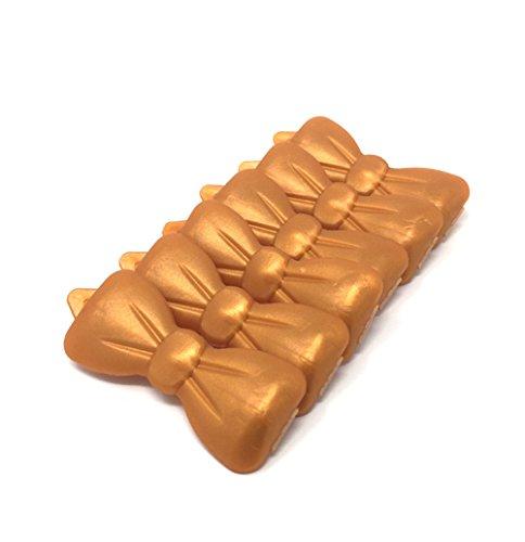 Artikelbild: Hunde-Haarspange 6 Stück perlmutt -orange 57