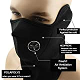 CreameBrulee Máscara cálida Máscara para Montar a Caballo Máscara a Prueba de Viento con máscara al Aire Libre con Visera al Aire Libre