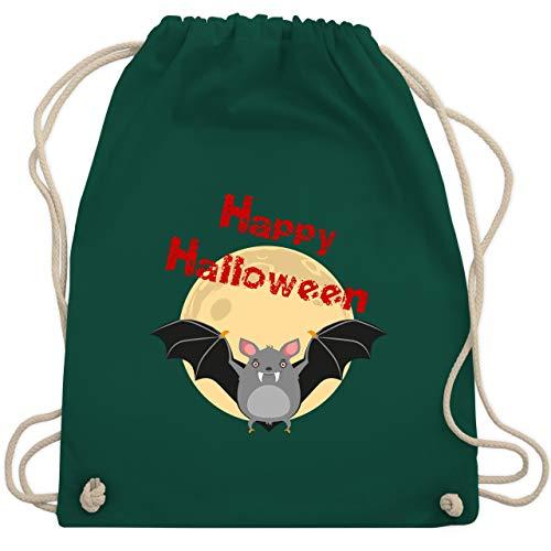 Halloween - Happy Halloween Fledermaus - Unisize - Dunkelgrün - WM110 - Turnbeutel & Gym ()