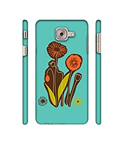 NattyCase Flowers Design 3D Printed Hard Back Case Cover for Samsung Galaxy J7 Max