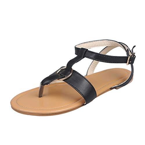 SMENGG Pantofole Pantofole Estive da Donna, Pantofole Piatte, Sandali da Spiaggia, Scarpe Romane(42)