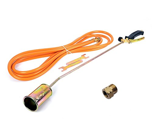Gasbrenner Abflammgerät Brenner Unkrautvernichter Dachbrenner 85cm mit Adapter