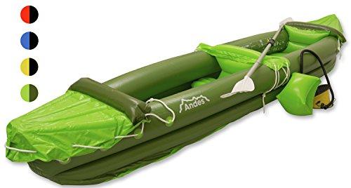 Andes - Kayak avec pagaie - deux personnes - gonflable/pneumatique/sports aquatiques - Vert