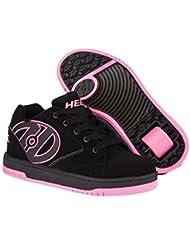 Heelys Propel 2.0 One Wheel Skating Shoe (Black/Hot Pink, 2 UK) by Heelys