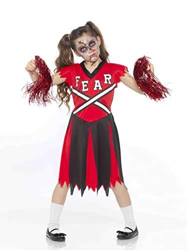 Karnival Costumes- Halloween Zombie Fearleader Disfraz, Multicolor, small (84598)