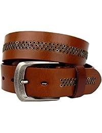 Ella Jonte ceinture homme femme mixte marron en cuir avec boucle à ardillon  3,8 bc54f7d8917