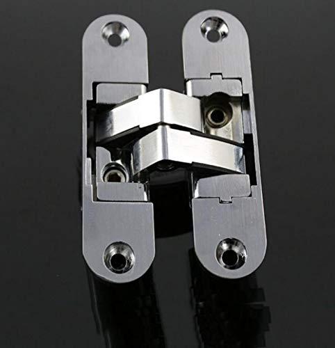 YAOJII Bisagras Ocultas Ajustables Plegables tridimensionales de 2 Piezas/bisagras Ocultas para Puertas...
