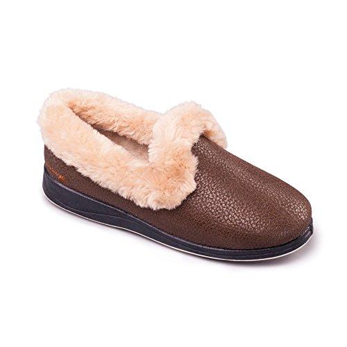 scarpa Padders donne scarpe 'di lusso' | scarpe simili | Extra grande larghezza di EE | 30 millimetri tallone | calzascarpe libero Bronzo