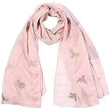 d1b531d6f04 ZYUEER Femmes Foulard Imprimé Solide Couleur Longue ÉCharpe Wrap Vintage  Grand ChâLe Hijab ÉLéGant pas cher