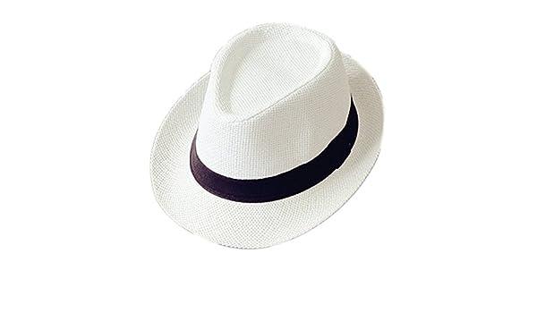 6237006ca8a Cupcinu Children Kids Boys Girls Panama Summer Sun Beach Straw Hat British  Style Fedora Trilby Straw Hat Cap Foldable Packable Outdoor Travel Caps  ...