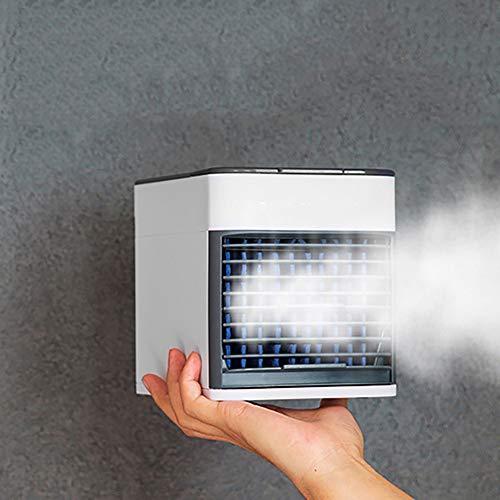 WUSTEGCCF Mini Air Conditioning Fan LuftküHler,Spray Micro Klimaanlage, HaushaltsküHlung Tragbare Klimaanlage LüFter, Kein Freon, Stromausfallschutz,White