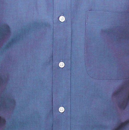 Relco Hommes Tonique Chemise Manches Courtes Mode Peau Rétro Indie 60S 70S Bleu