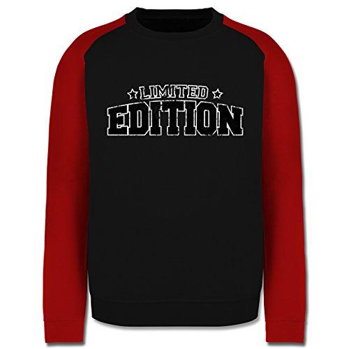 Statement Shirts - Limited Edition Vintage - Herren Baseball Pullover Schwarz/Rot