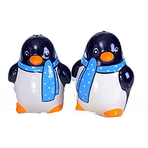 Set sale e pepe con pinguini Blu sacrf Set di