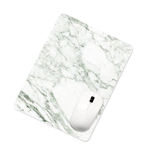 ProElife, tappetino rettangolare per mouse in pelle poliuretanica, colorato e antiscivolo per l'ufficio o la casa, per Apple Magic Mouse, 26 cmx 20cm, Marble White, 26 cm x 20 cm