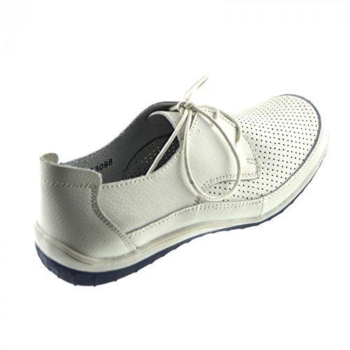 Kick Footwear - Donna Sport Lace-up Scarpe a Piedi e Tomaia in Vera Pelle Scarpe eleganti Bianco