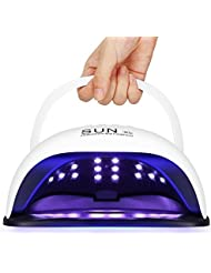 Lampe à ongles LED, lampe à ongles Gel UV 54W avec 36 perles, écran LCD, minuterie 10/30/60/99 secondes, capteur automatique et plateau magnétique détachable, poignée professionnelle Séchoir à vernis