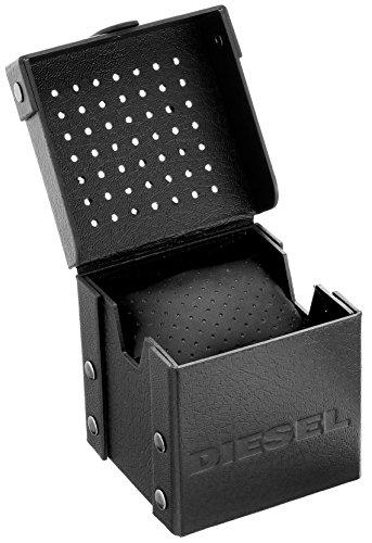 Diesel Advanced – Reloj de cuarzo con la correa de plástico para hombre, color negro / rojo