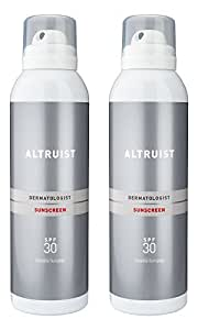 ALTRUIST Dermatologist Invisible Sunspray with SPF30, 200ml (2x 200ml)