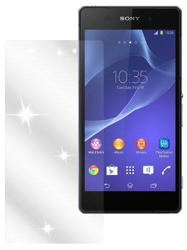dipos I 2X Schutzfolie klar passend für Sony Xperia Z2 Folie Bildschirmschutzfolie